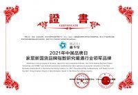 鑫华星荣获2021家居新国货品牌指数研究暖通行业领军品牌